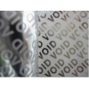 China Matt Total Transfer Warranty Void Labels , Printed Ribbon Labels Material for sale