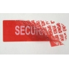 China Fast Food Carton Printable Security Labels With OPENED Hidden Message for sale