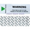 China Low Residue Custom Warranty Stickers / Tamper Evident Labels With Hidden Message for sale