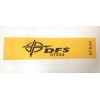 China Yellow Tamper Evident Security Labels For DFS Financial Bank Department for sale