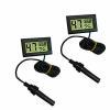 China OMEM 2 pack digital reptile thermometer, Fahrenheit degree spider turtles hygrometer black for sale