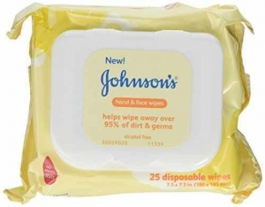 China Johnsons Baby Hand and Face Wipes, 25-count Pack of 3 on sale