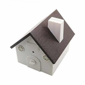 China CY Outdoor Bark Controller Sonic Bark Deterrents in Newest Birdhouse Shape Black on sale