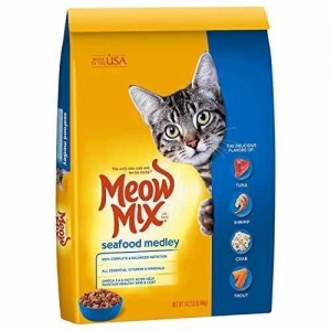 China Meow Mix Seafood Medley Dry Cat Food, 14.2 lb on sale