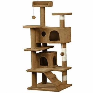 China Yaheetech 53.5 Cat Tree Tower Condo Furniture Scratch Post for Kittens Pet House Play on sale