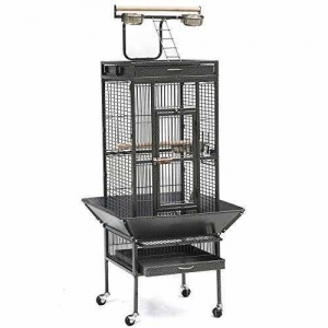 China Yaheetech Pet Bird Cage Play Top Parrot Cockatiel Cockatoo Parakeet Finches 61Black on sale