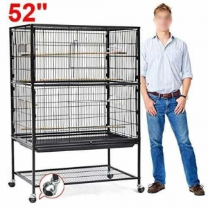 China go2buy Large Play Top Bird Cage Parttot Finch Macaw Cockatoo Birdcages on sale