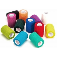 "WildCow Vet Wrap Bulk 4"", Vet Tape Wrap Bandages Assorted Colors Pack of 12"