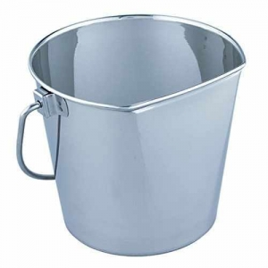 China QT Dog Flat Sided Stainless Steel Bucket, 6 quart on sale