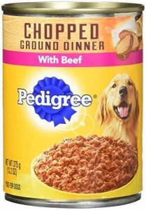 China Pedigree Chopped Ground Dinner Multipack Dog Food, 13.2 Oz each6-Filet Mignon and 6-Beef on sale