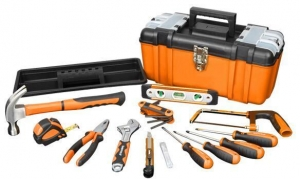 China hand tools KNS1490125 PC Home Tool Set in Plastic Box on sale