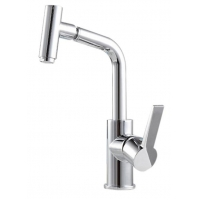 KN7103Classic Wall Mount Modern Kitchen / Wet Bar Sink Faucet, Brushed Nickel