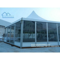 White Hexagon Round Tent with High Peak Marquee for Sale to South Africa