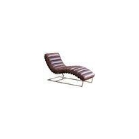 China Gunnar Quick Ship Contemporary Leather Chaise on sale
