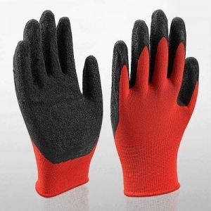 China Safety Gloves 13 Gauge Latex Coated Nylon Mechanic Gloves on sale