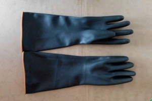 China Safety Gloves heavy duty chemical gloves Long Heavy Duty Chemical Rubber Gloves on sale