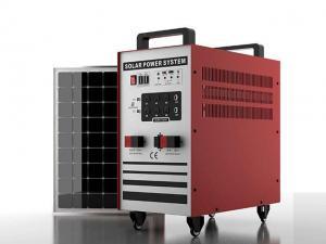 China 100Ah battery 200W solar panel 1000W pure sine wave inverter solar light system-SL200-100P1000 on sale
