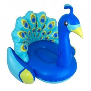 China Giant peacock swimming pool inflatable animal float on sale