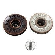 China VT Custom Metal Small Jeans Buttons on sale