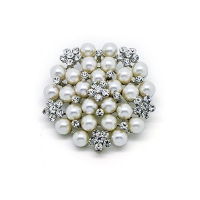 Huge Fashion Vintage Pearl Flower Cluster Pins and Brooches Jewelry