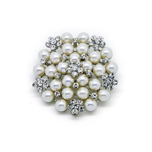 China Huge Fashion Vintage Pearl Flower Cluster Pins and Brooches Jewelry on sale