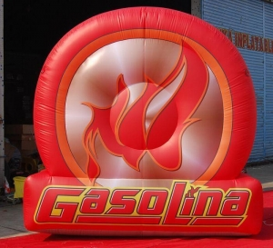 China 12ft Giant Advertising Inflatable Tire Balloon Replicas Tyre on sale