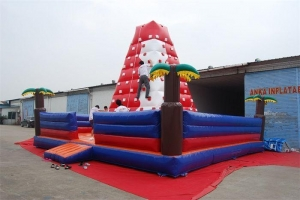China New Product Kids Giant Indoor Inflatable Water Rock Climbing Wall on sale