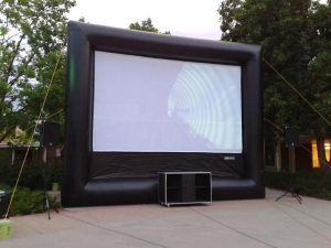 China Outdoor Advertising Giant Floating Air Movie Cinema Inflatable Outdoor Projection Screen for Sale on sale