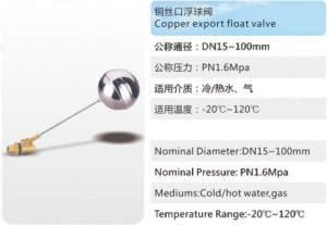 China Copper export float valve on sale