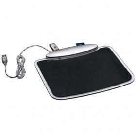 China USB HUB 1102 Blue LED Light Mouse Pad With 3 Port USB HUB & Card Reader on sale