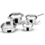 China Fry Pans Cookware Set, 12 Pieces, Stainless Steel, Super Elite on sale
