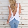 China Cute Knotted Back Tank Tops Women Sexy Sleeveless Basic Shirts for sale