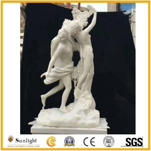 China Culture Stone white Jade Marble Statue on sale