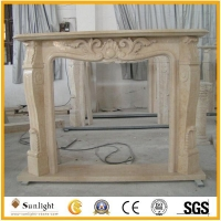 Culture Stone Natural marble / limstone indoor fireplace frame sculpture