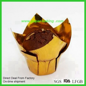 China Paper Tulip Cups Flower Cupcakes Wrappers on sale