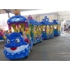 China Amusement train Kiddie Carnival Rides Ocean Theme Trackless Train for sale