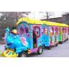 China Amusement train Popular Elephant Fiberglass Electric Trackless Trains for Sale for sale