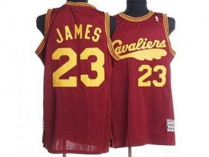 China Mitchell and Ness Cavaliers #23 LeBron James Red Throwback Stitched NBA Jersey on sale