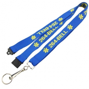 China Single Custom Embroidered Lanyards for ID Cards on sale