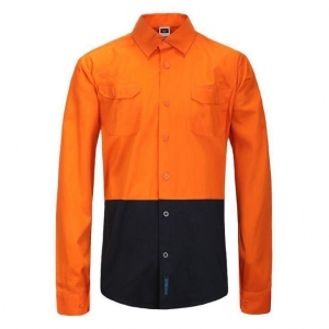 China High Visibility Two Tones Cotton Long Sleeve Shirts For Men Without Tape on sale