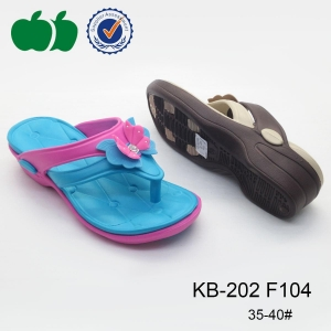 China New design summer style high quaity lady double color eva slipper on sale