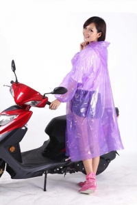 China Disposable PE Rain Poncho For Riding Bicycle Or Motorcycle on sale
