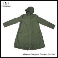 China Army Green Waterproof Raincoat Rain Gear For Men Women on sale