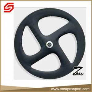 China 700C Clincher Carbon fiber 4 spoke bicycle wheel on sale