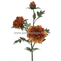 China Artificial Flowers Peony Spray with 2 Flowers, 1 Bud on sale