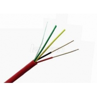 4 Cords Bare Copper Security Fire Alarm Cable PVC Flame Proof Length Customized