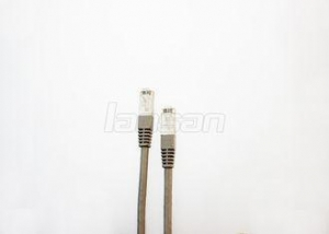 China Round CAT6A SSTP Cable , LSZH 1m RJ45 Connector 568B Pure Copper Patch Cord on sale