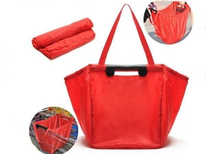 China Promational bag Supermarket Resuable Foldable Shopping Cart Bag with Compartments on sale