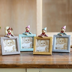 China New born baby first picture photo frame decorative box 3.5*3.5 LA16006-A101 on sale