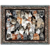 China Cat Blankets Throw 2343 on sale